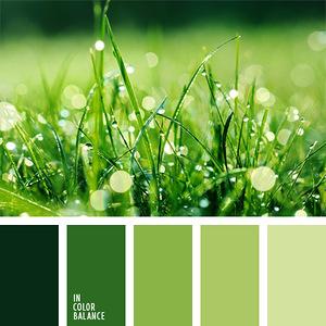 Травы и листья - гармоничные палитры в 5 цветов