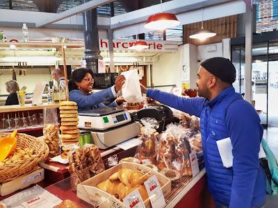 Budget Traveller Kash shopping at the Albi Food Market