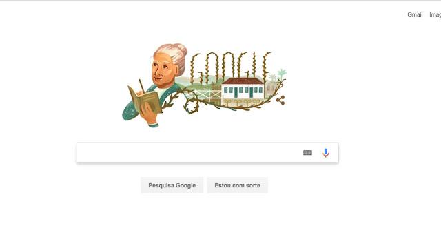 O Google celebra neste domingo, com um doodle, o 128º aniversário da poeta brasileira Cora Coralina (1889 - 1985), uma das mais importantes escritoras brasileiras.