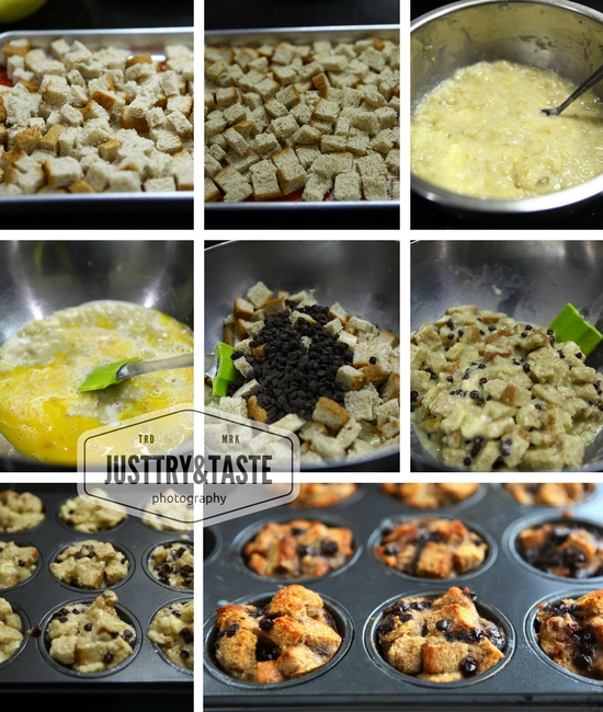 Resep Choco Chips Banana Bread Pudding