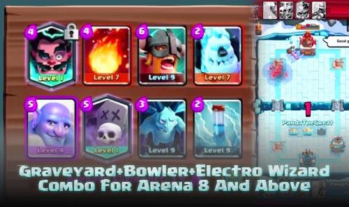 Strategi Deck Graveyard+Bowler+Electro Wizard Arena 8 Keatas