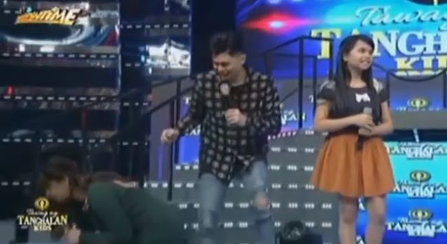 Angel Locsin As the First Celebrity Who Is Fond Of Picking Up The Confetti During Its Showtime's 'TrabaHula'!