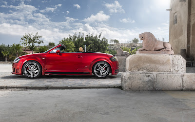 audi tt red widescreen hd wallpaper