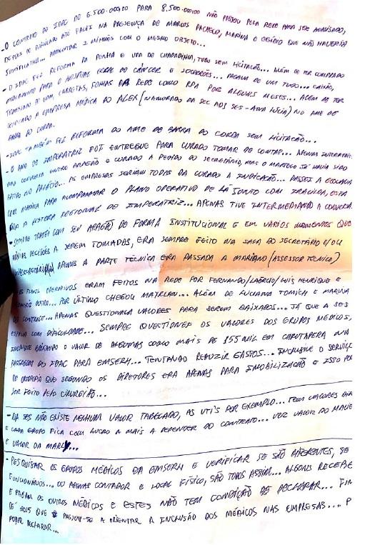 A culpa não pode ficar só comigo, diz médico Mariano de Castro Silva em carta -  Operação Pegadores