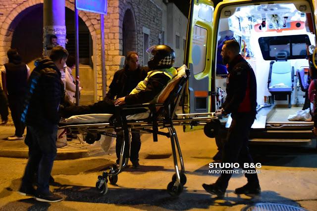 Τροχαίο ατύχημα με τραυματία οδηγό delivery στο Ναύπλιο (βίντεο)