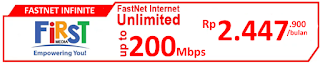 Paket Internet First Media FastNet Infinite