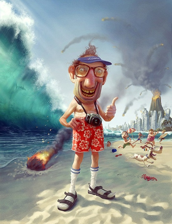 Digital art and painting with Tiago Hoisel. Besides the great collection of humorous illustrations that he has provided for us, Tiago also gives precious advice and shares interesting information in the below exclusive interview. Amazing creativity, detail and fun are the perfect words to describe his artwork. The humor and realism are perfectly combined to depict real life situations or imaginary scenarios meant to make the viewer laugh and want more!
