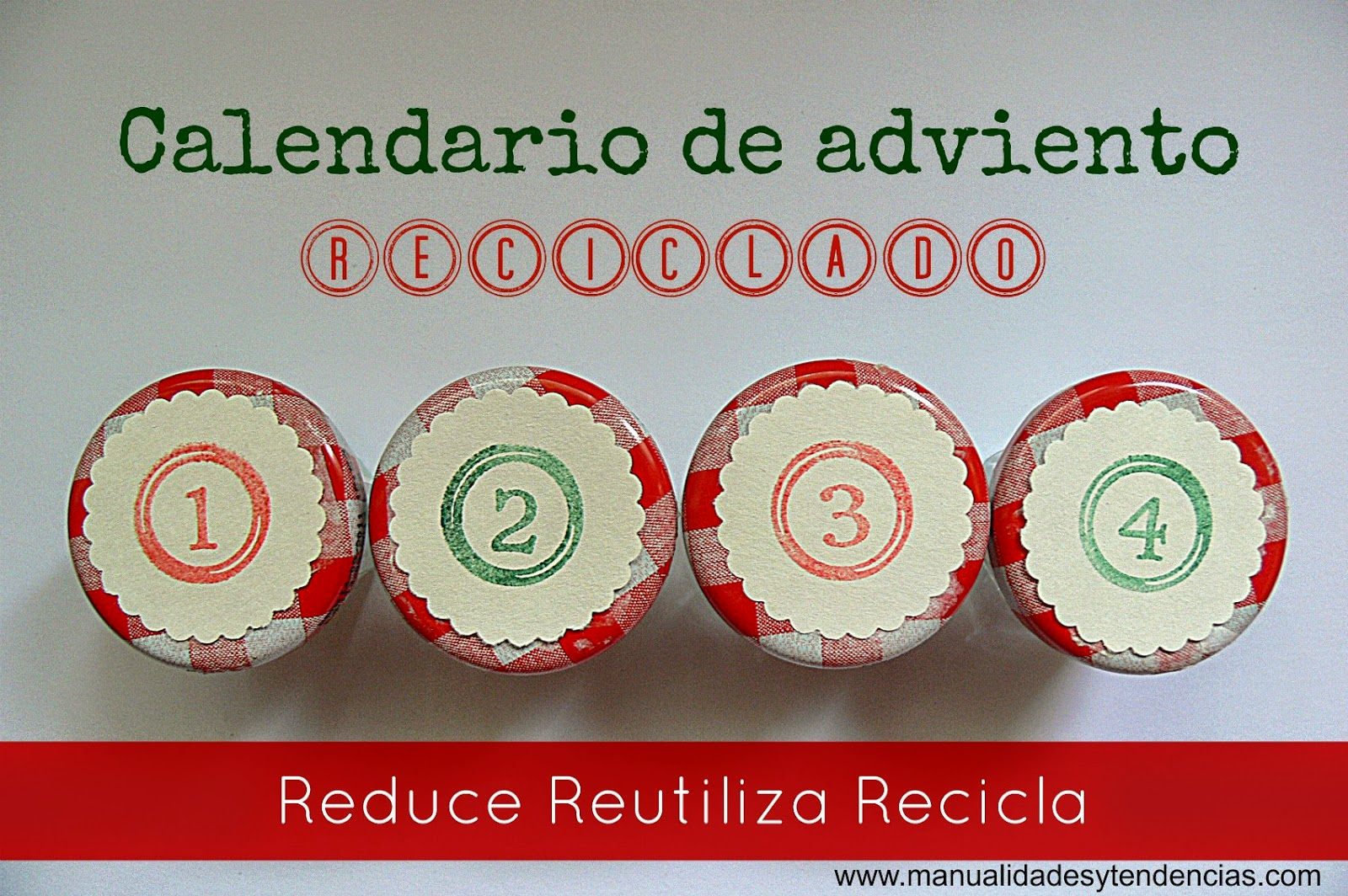 Calendario de adviento reciclado