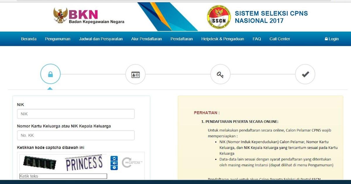 Cara Daftar Online CPNS 2017 di Situs https://sscn.bkn.go