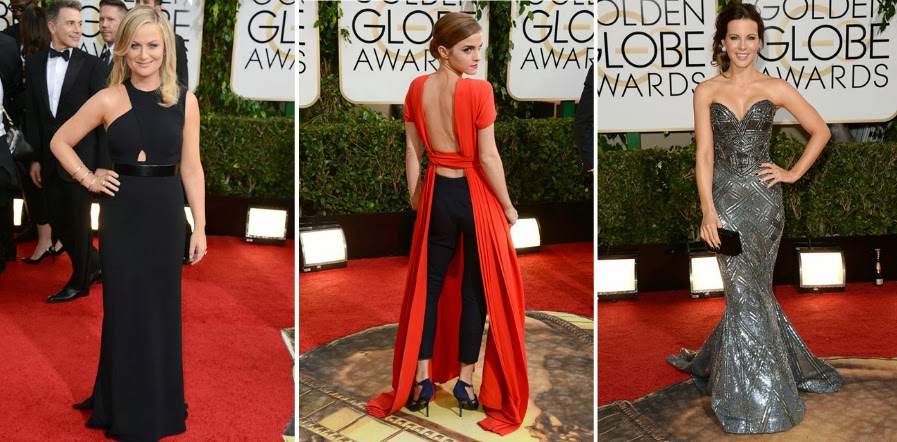 Golden Globes 2014, Red Carpet, Best Dressed List, Celebrities, Couture, Gowns, Amy Poehler, Stella McCartney, Emma Watson, Christian Dior, Backless Dress, Kate Beckinsale, Zuhair Murad