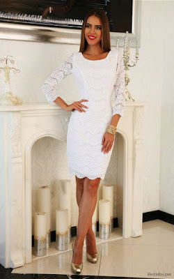 Vestidos de encaje blanco