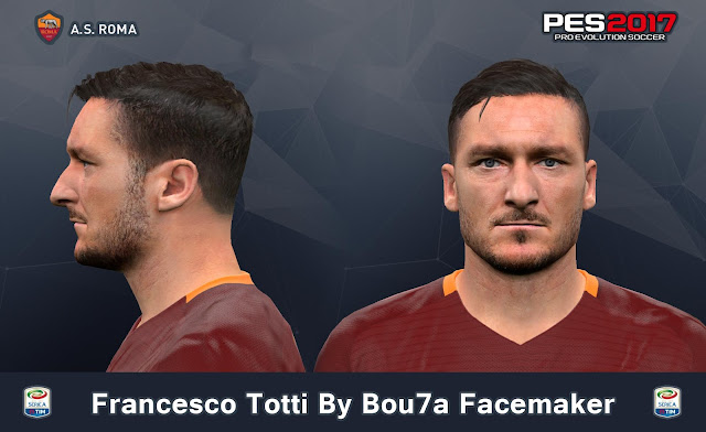 PES 2017 Francesco Totti Face By Bou7a Facemaker