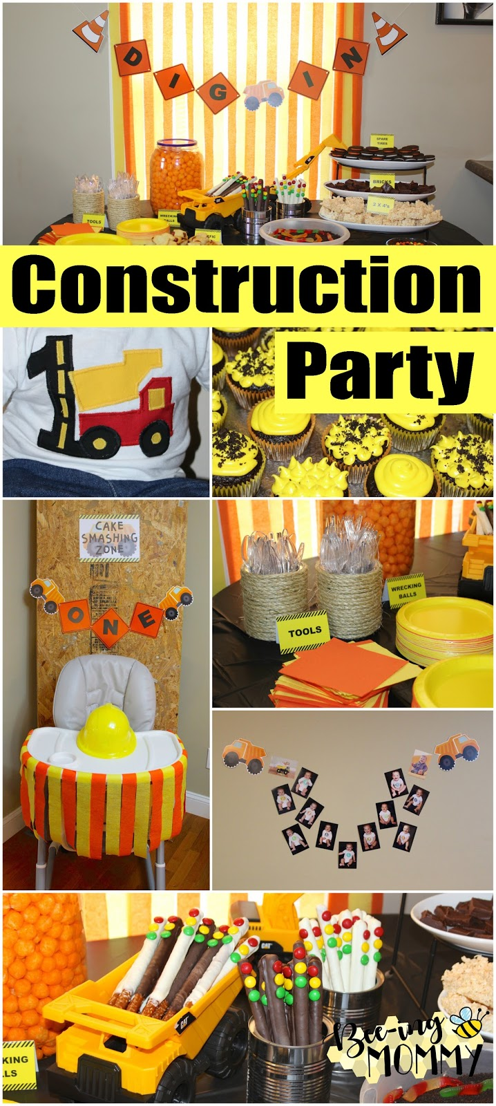Bee Ing Mommy Blog Construction Birthday Party