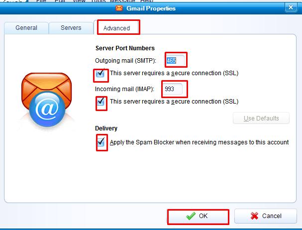 IMAP settings for ameritech.net