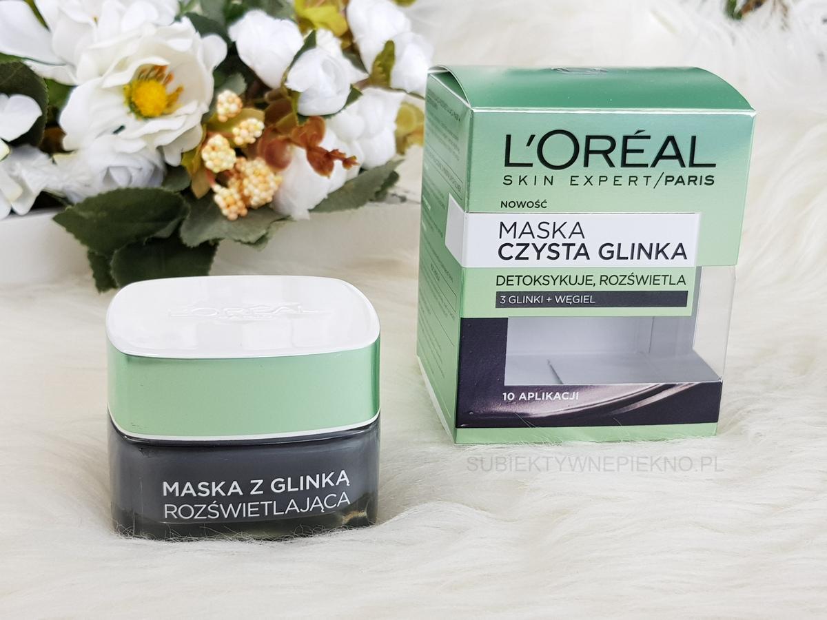 LOreal Czysta Glinka - czarna maska rozświetlająca