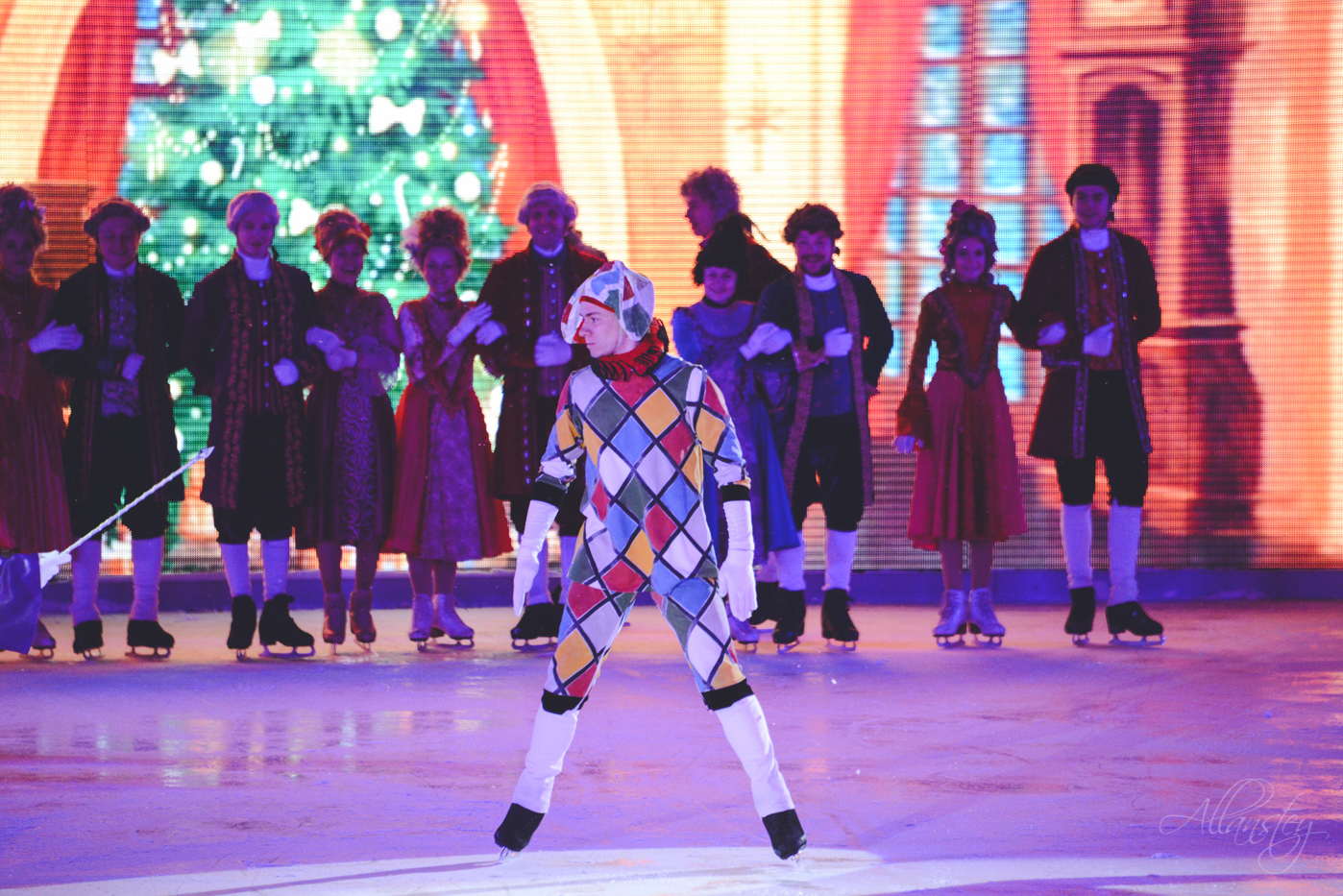 Nutcracker figure sakating ice show