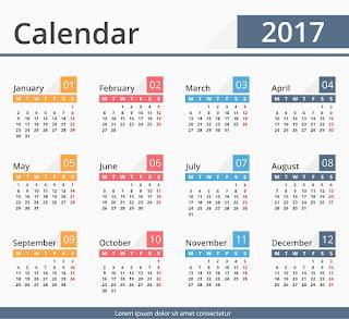 2017カレンダー無料テンプレート150