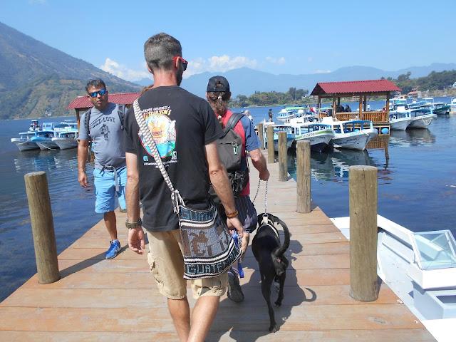 Santiago Guatemala dock Lake Atitlan