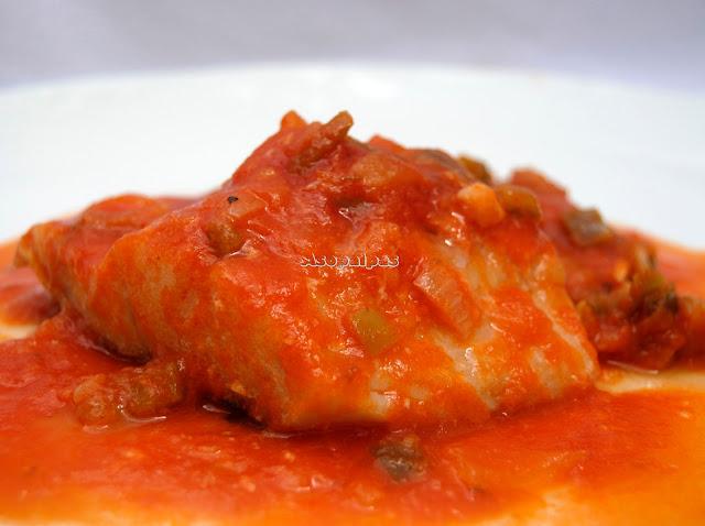 Bacalao con Salsa de Tomate y Verduras