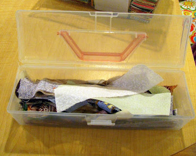 quilt strip scraps container