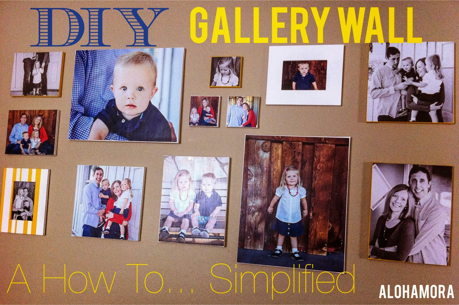 DIY Gallery Wall, a simplified how to tutorial.  It's a lot easier than you think, and it is affordable.  Alohamora Open a Book. http://alohamoraopenabook.blogspot.com/