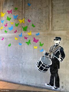 butterfly drummer