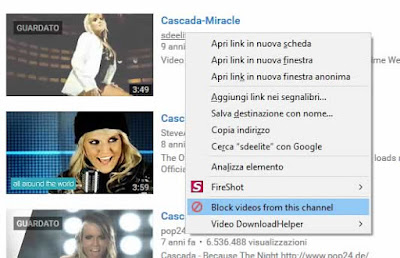 Come bloccare video su youtube