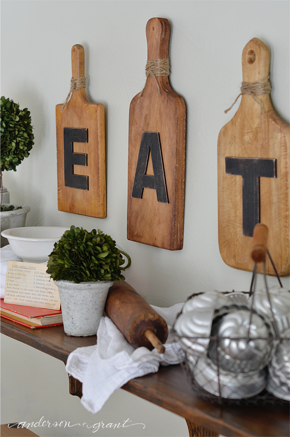 decorating a kitchen shelf