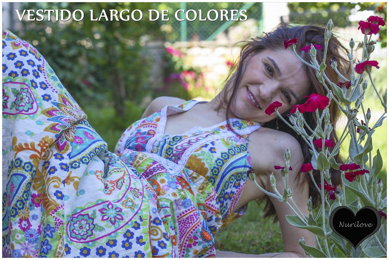 Vestido largo de colores muy veraniego