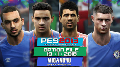 PES 2013 Next Season Patch 2017/2018 Option File Update 19/01/2018