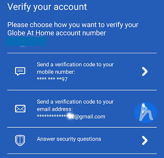 Globe DSL account verification