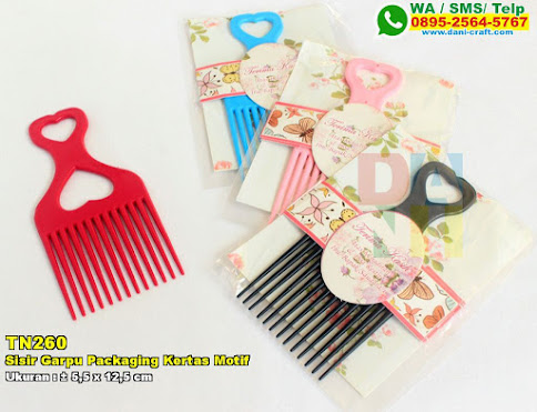 Sisir Garpu Packaging Kertas Motif