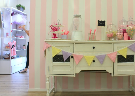 lolly bar sweet buffet bunting vintage pink party ideas birthday