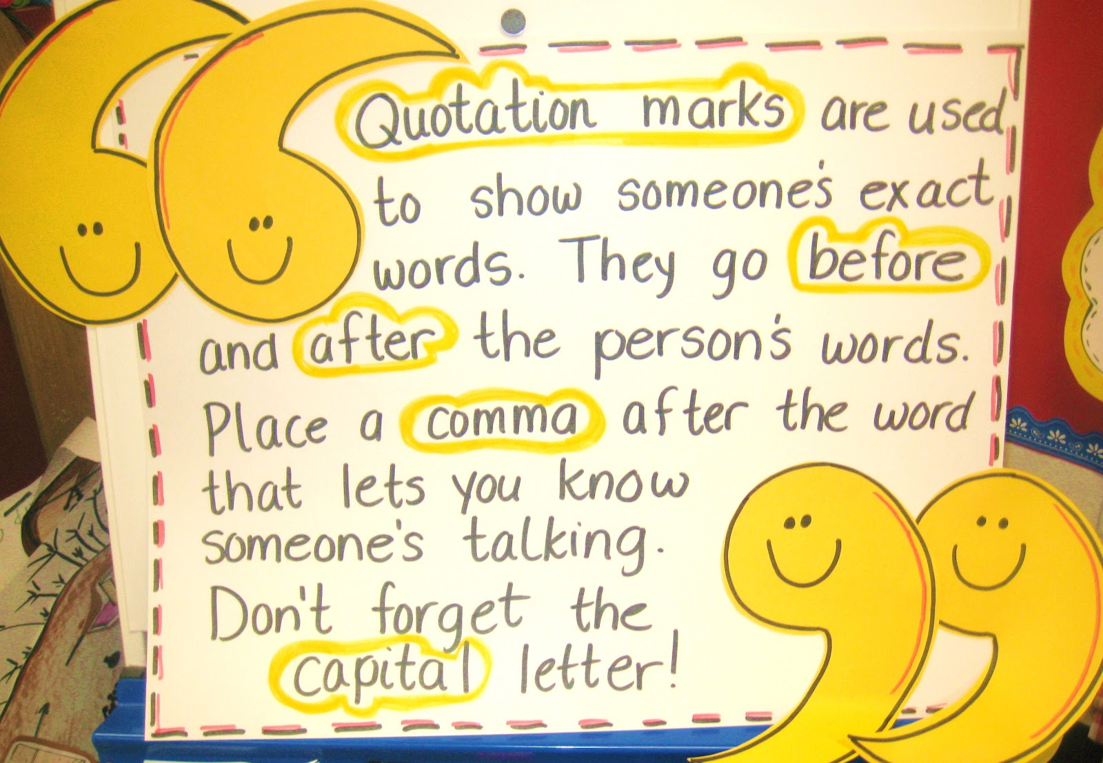 Mrs Ferguson And Mrs Robin S Blog Quotation Marks Practice