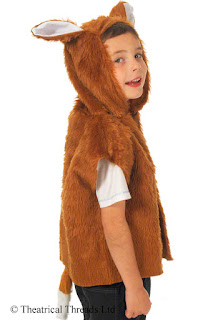 Fox tabard One Size Kids Costume Set from Theatrical Threads Ltd