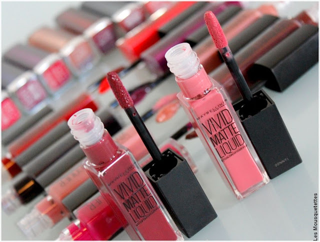 Color Sensational Vivid Matte Liquid - Lipstick Gemey Maybelline - Blog beauté