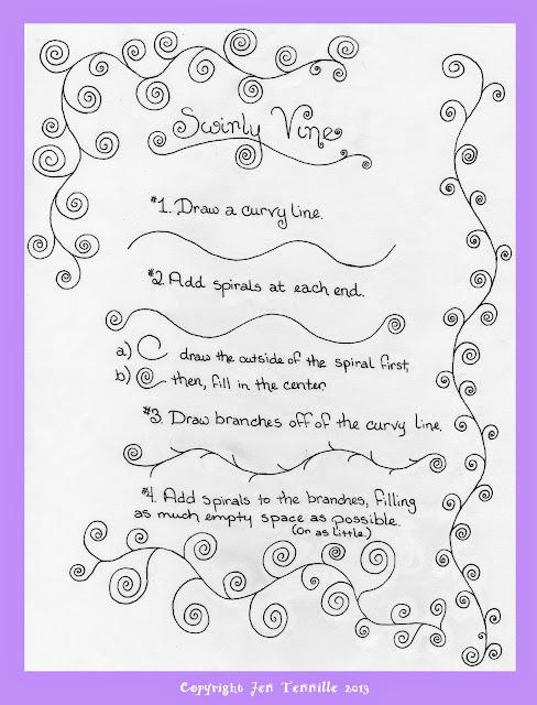 Swirly Vine Doodle Tutorial