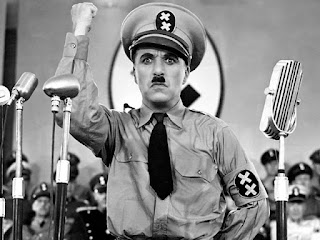 In Hitler's parody, 'The Great Dictator' (1940)