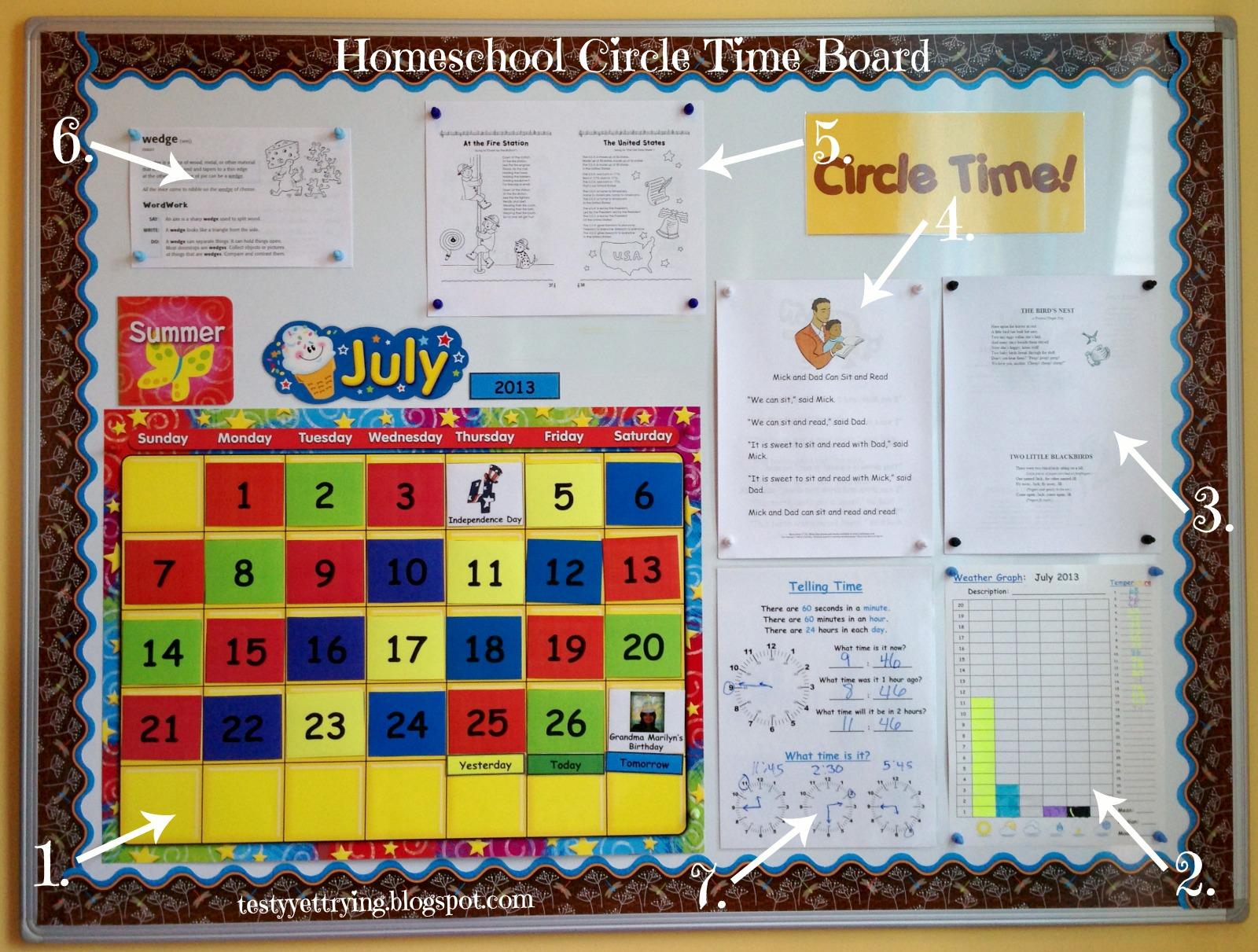 Testy Yet Trying Homeschool Circle Time