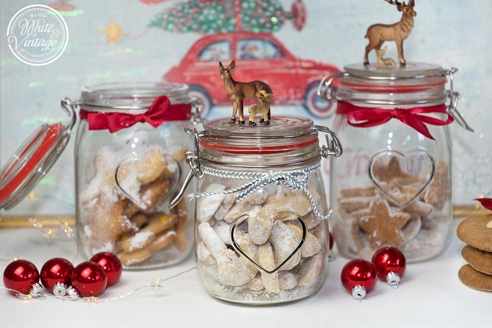 Gesunde Weihnachtskekse zum Verschenken.