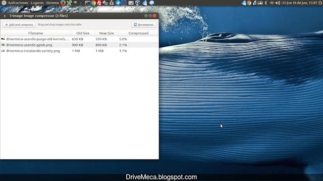 DriveMeca instalando trimage en Linux Ubuntu