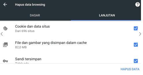 cara clear cache browser google chrome