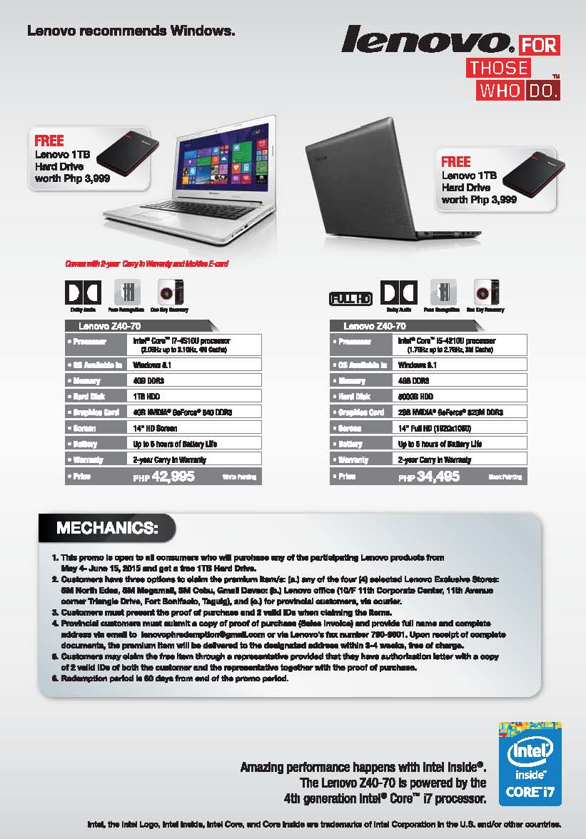 Lenovo Z Series for the practical and efficient student