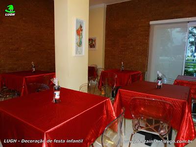 Toalhas para a mesa dos convidados - Festa Ladybug