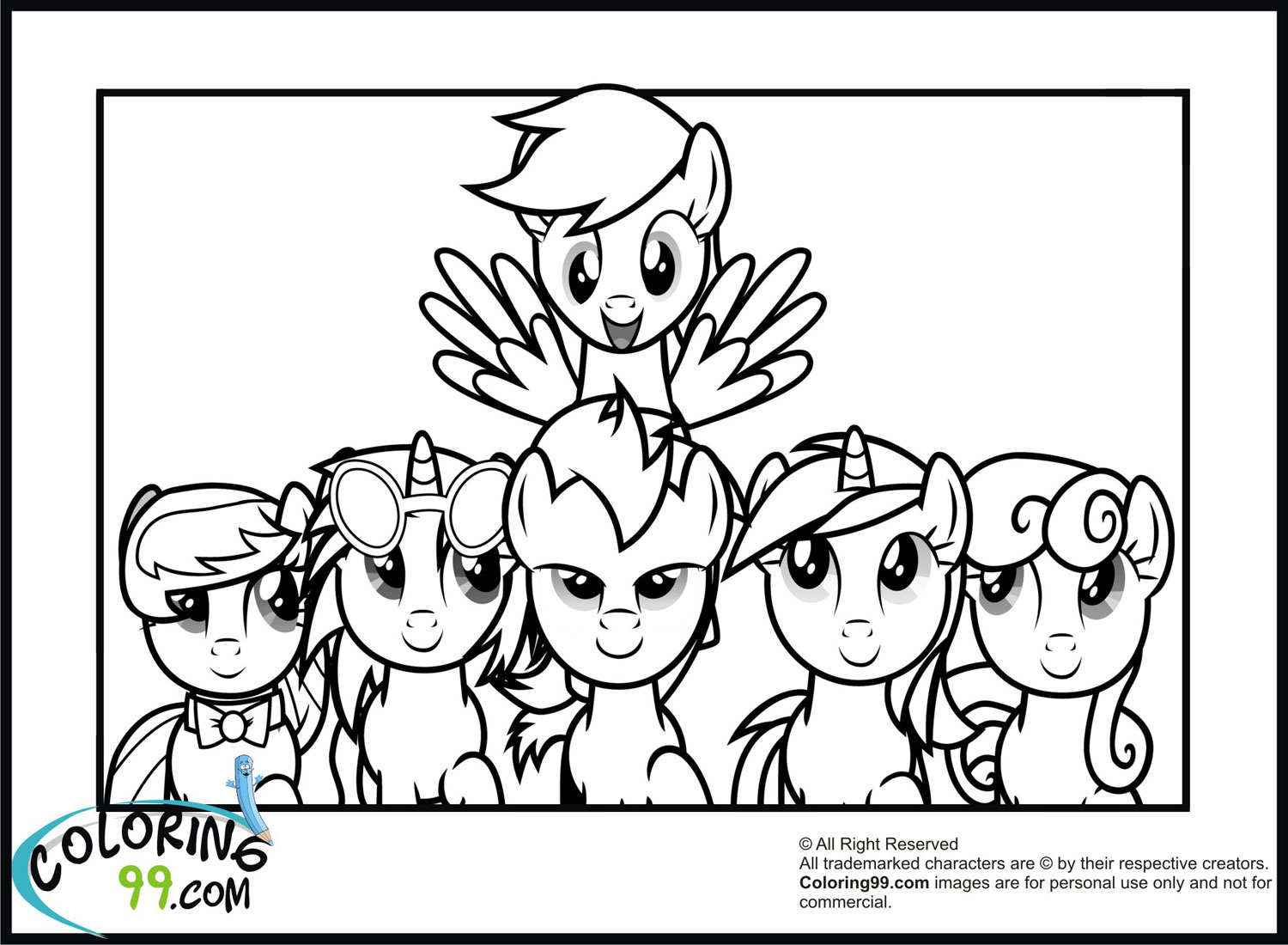 My little pony coloring pages minister