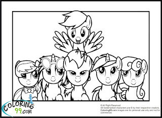 My little pony coloring pages team colors for Derpy hooves coloring pages