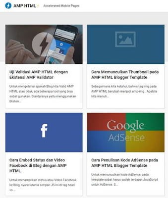 AMP HTML Blogger Template
