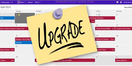 Nuevas características del calendario de Outlook / hotmail iniciar sesion