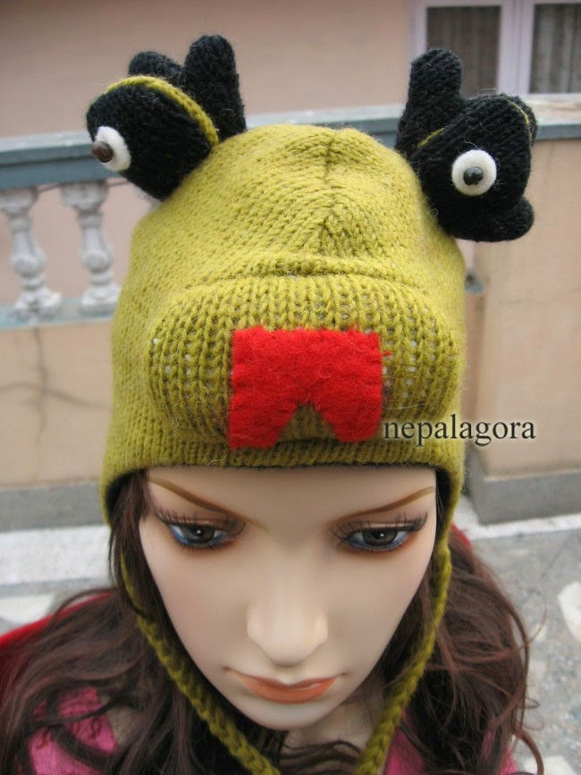 701931496a2a5 C401 crazy animal adult kids ear flap fleece lined wool cute hat Ski Cap  Nepal