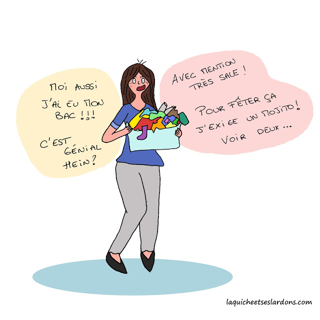 illustration dessin humour bac linge maman lessive femme panière quiche illustrée
